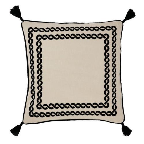 Linen House Black Cavallino Cotton-Blend Cushion