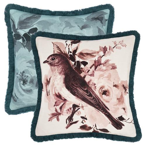 Linen House Multi-Coloured Reversible Primrose Cotton Cushion