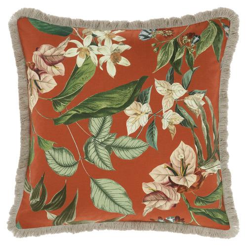 Linen House Orange Anastacia Chai Cotton Cushion