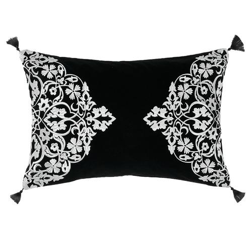 Linen House Black Adalina Cotton Cushion