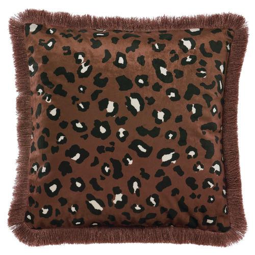 Linen House Fringed Ayanna Velvet Cushion