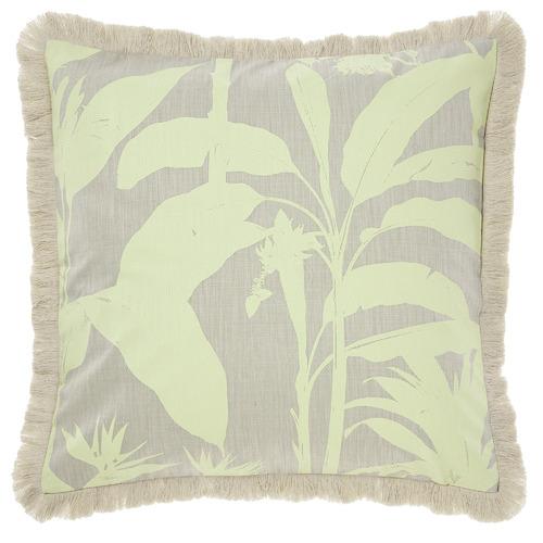 Linen House Teal Habitation Cotton Cushion