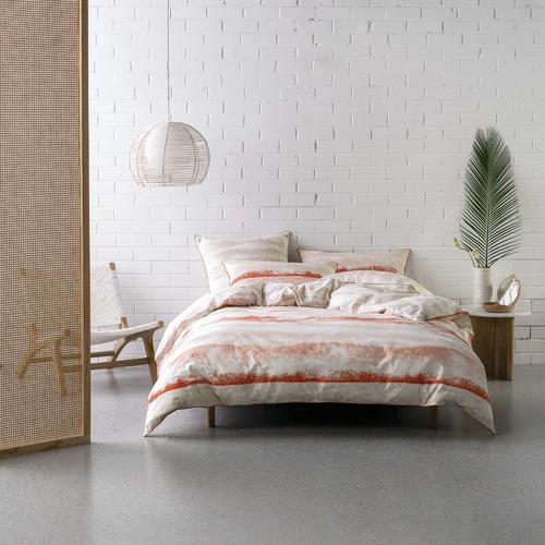 Deco City Living Coral Terrain Cotton Quilt Cover Set
