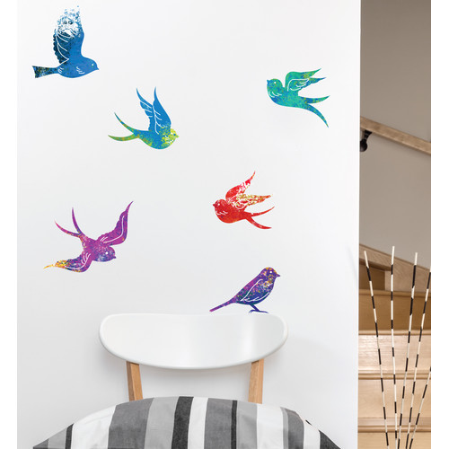 Zen Birds Set Of 6 Wall Decal
