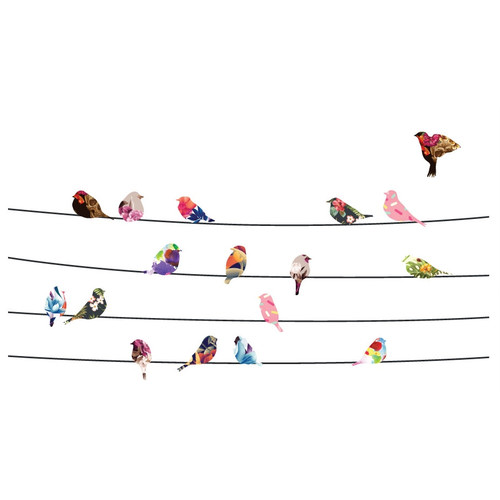 Little Sticker Boy Birds & Blossoms Wall Decal