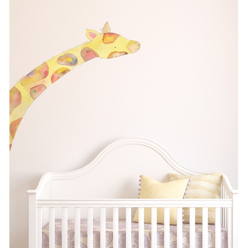Little Sticker Boy Giraffe Wall Decal