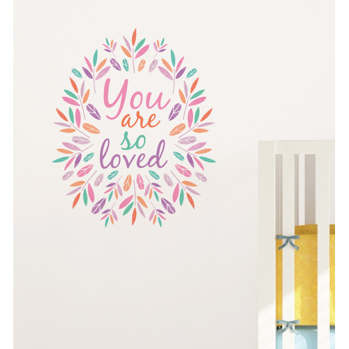 Little Sticker Boy You Are So Loved Wreath Wall Decal Part 77