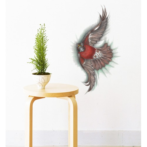 north american robin bird wall sticker | temple & webster