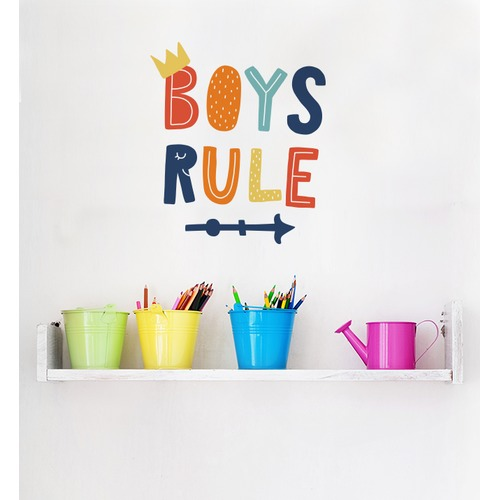 Little Sticker Boy Boys Rule Wall Sticker