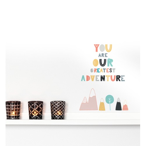 Little Sticker Boy You Are Our Greatest Adventure Wall Sticker