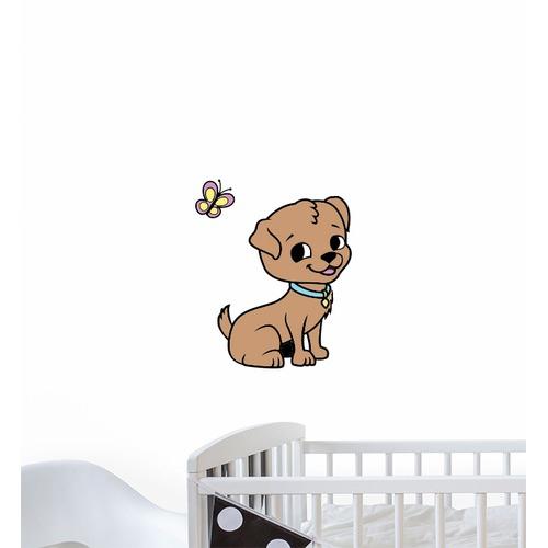 Little Sticker Boy Cartoon Puppy Wall Sticker