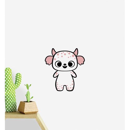 Little Sticker Boy Pink Spotty Monster Wall Sticker
