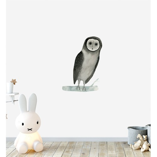 Little Sticker Boy Owl Wall Sticker