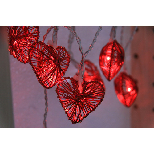 Luminea 1.85m Multi-Coloured Heart String Fairy Lights