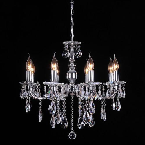 french inspired lighting. Lexi Lighting French Inspired 8 Light Crystal Chandelier In Chrome S