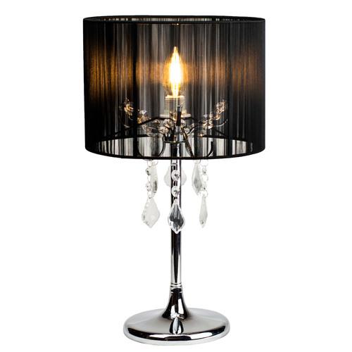 Paris chrome table lamp with black string shade temple webster lexi lighting paris chrome table lamp with black string shade aloadofball Gallery