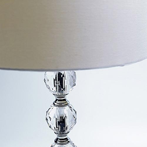 Luminea White Bergerac Acrylic & Steel Table Lamp