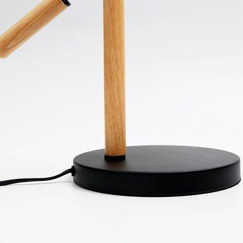 Luminea Scandinave Metal & Wood Table Lamp