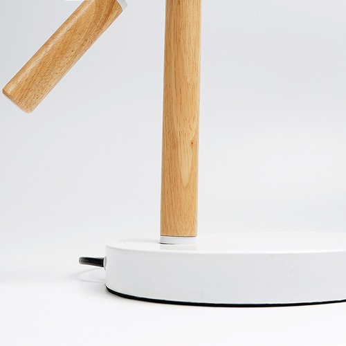 Luminea Scandinave Metal & Wood Table Lamp