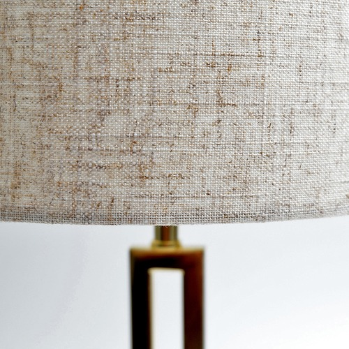 Luminea Brass Croix Marble & Metal  Table Lamp