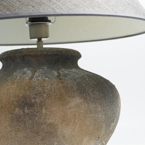 Luminea Grey Troyes Ceramic Table Lamp