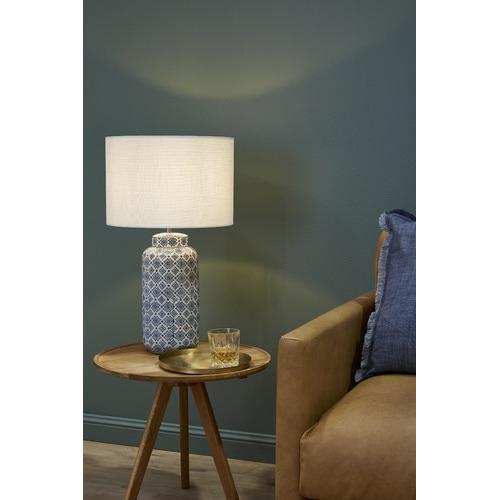 Luminea Blue & White Afra Ceramic Table Lamp