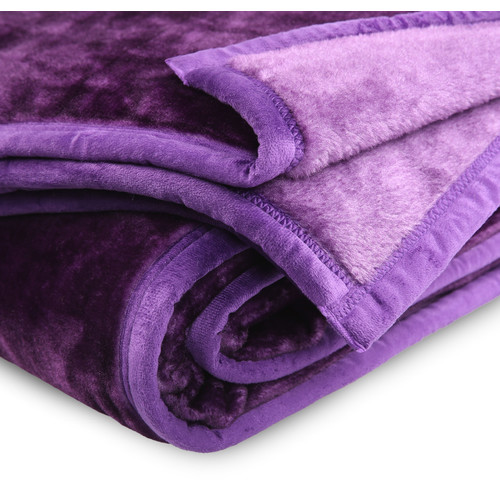 Grand Atelier Purple Luxury 500gsm Mink Blanket