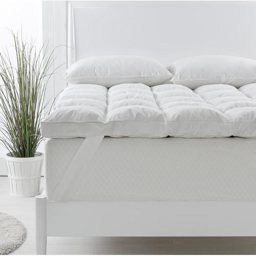 euroluxe linen luxe 1000gsm feather loft mattress topper