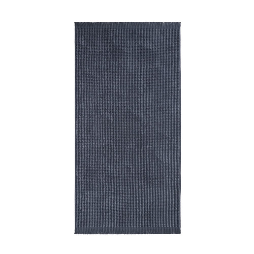 Aura By Tracie Ellis Denim Waffle Bathroom Towels