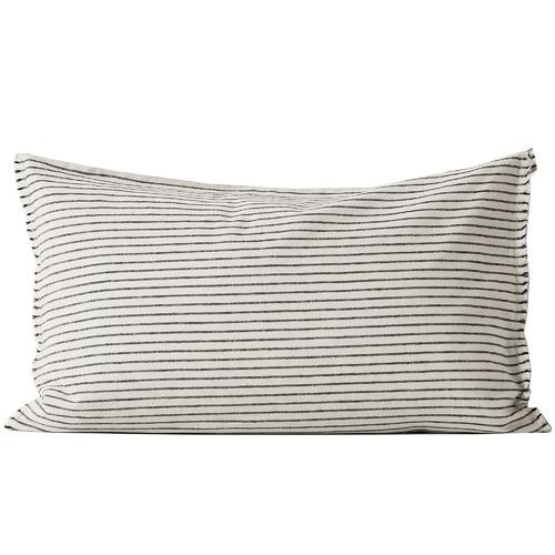 Aura By Tracie Ellis Chambray Vintage Stripe Standard Pillowcase