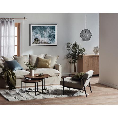 Aura By Tracie Ellis Luxury Cotton & Linen Square Cushion
