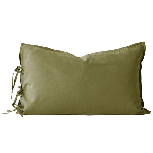 Aura By Tracie Ellis Maison Vintage Linen-Blend Standard Pillowcase