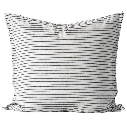 Aura By Tracie Ellis Striped Linen-Blend European Pillowcase