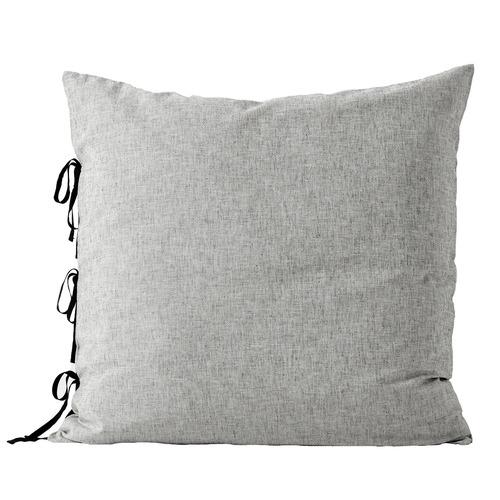 Aura By Tracie Ellis Grey Oxford Cotton-Blend European Pillowcase