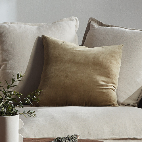 Aura By Tracie Ellis Luxury Cotton & Linen Square Cushion