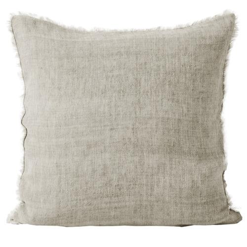 Natural Vintage Linen Square Cushion