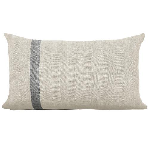 Aura By Tracie Ellis Herringbone Linen Cushion