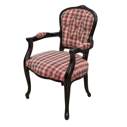 Huntington Lane Black Gloss Check Louis XV Chair