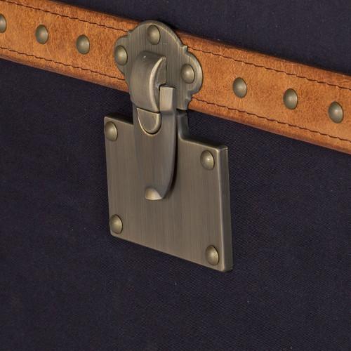 Huntington Lane Vintage Leather & Black Fabric Trunk