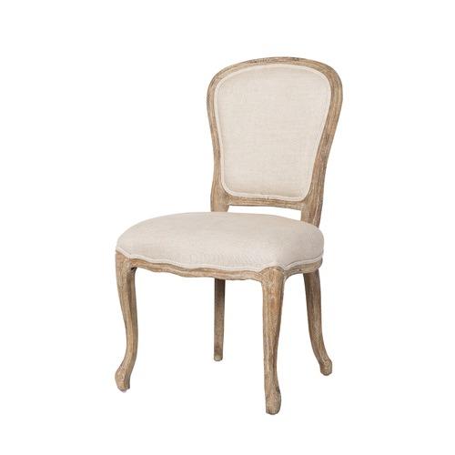 Great Huntington Lane Natural French Linen Oak Louis XV Chair