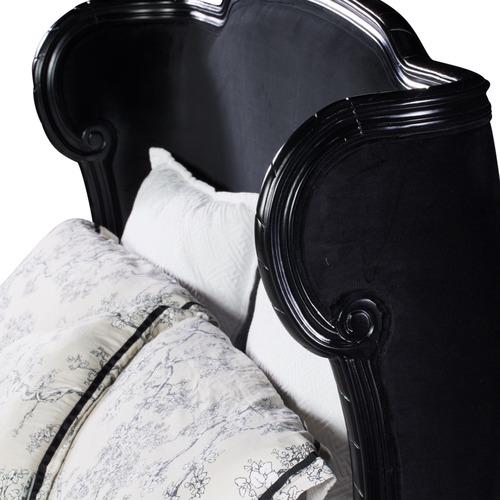 Huntington Lane Josephine Black Gloss And Velvet Bed