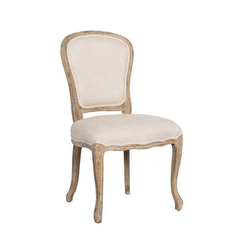 Huntington Lane Natural French Linen Oak Louis XV Chair