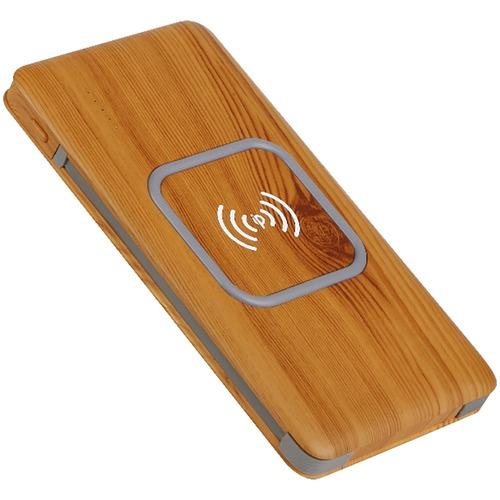 ALLDOCK LuxeTech Bamboo Wireless Power Bank