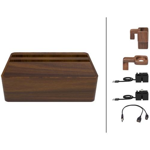 ALLDOCK HybridX Walnut Medium Apple Package with Accessories