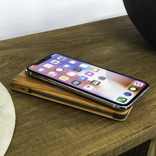ALLDOCK LuxeTech Wireless Power Bank Bamboo