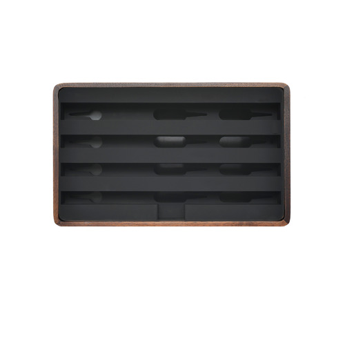 ALLDOCK Alldock Classic Walnut & Black Charging Station with 2 Apple Cables
