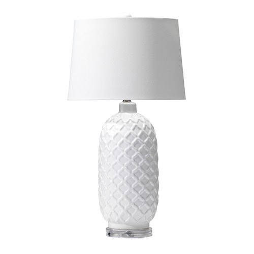 Hyde Park Home White Fez Table Lamp