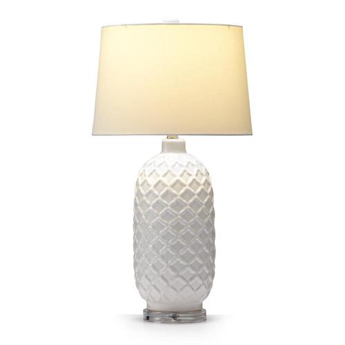 Hyde Park Home White Fez Table Lamp