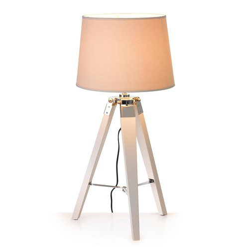 hyde park home white tripod table lamp with white shade