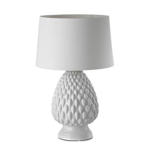 White pineapple table lamp temple webster hyde park home white pineapple table lamp aloadofball Images